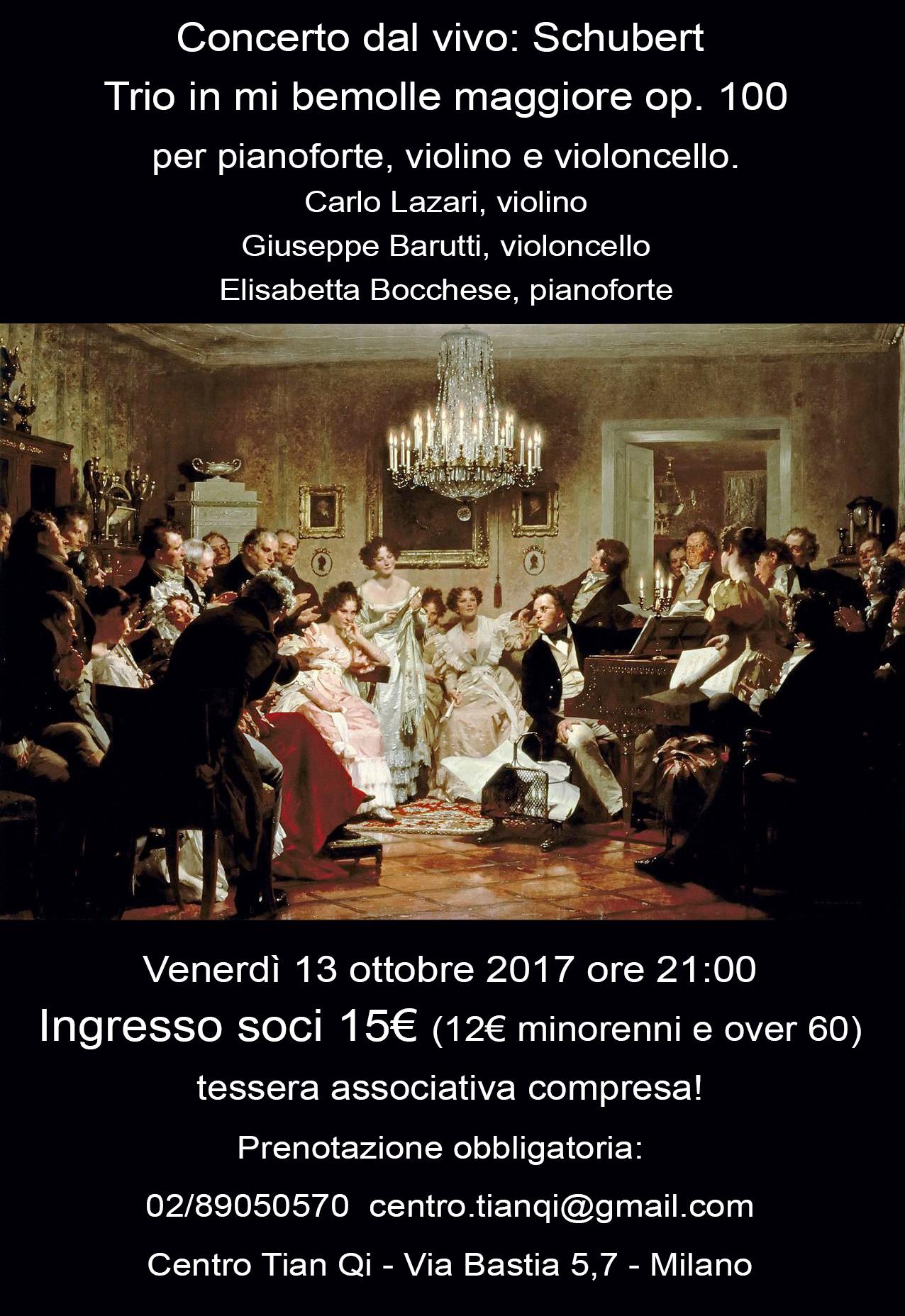13/10/2017: Concerto dal vivo - schubert - op. 100
